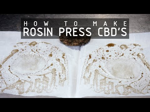 How To Make CBD Oil With A Rosin Press: Cannabasics #116